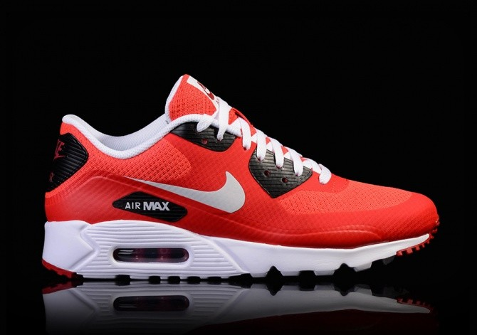 NIKE AIR MAX 90 ULTRA ESSENTIAL PURE PLATINUM GYM Rouge Noir pour