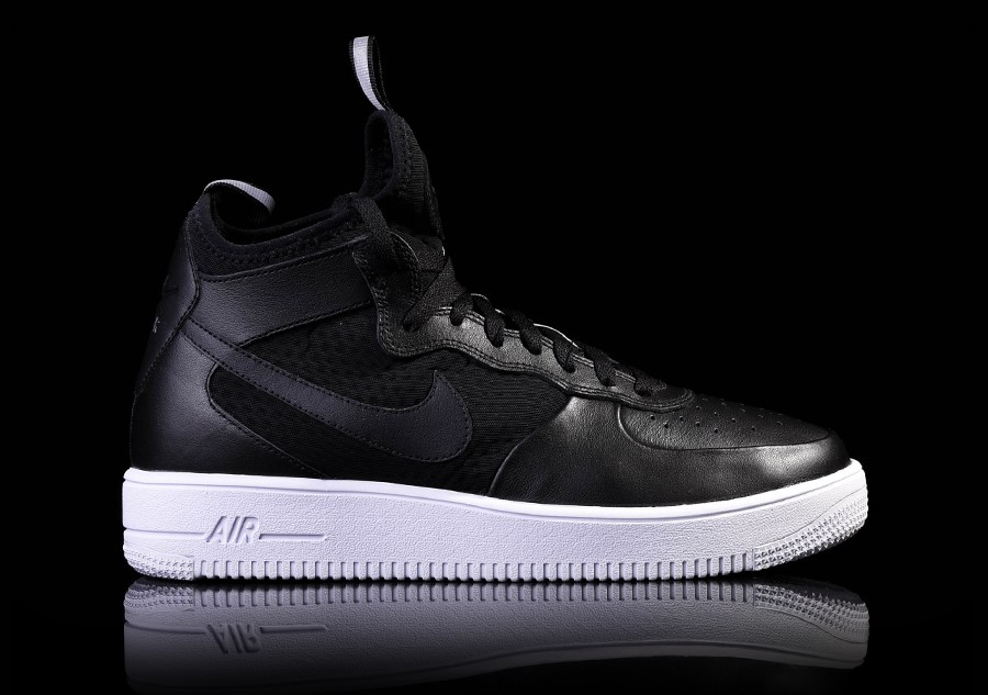 various styles wholesale online look good shoes sale NIKE AIR FORCE 1 ULTRAFORCE MID BLACK-WHITE price €105.00 ...