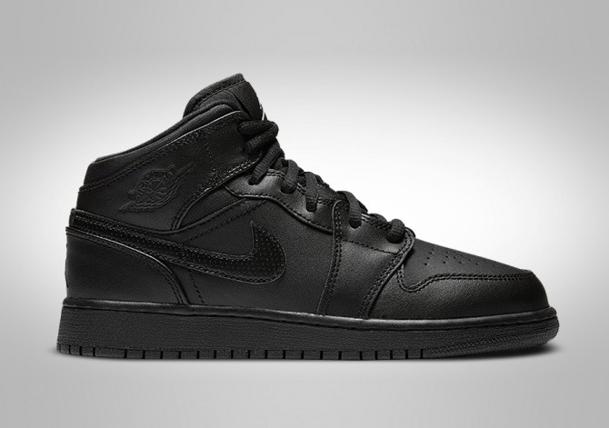 7aebe7d6076 NIKE AIR JORDAN 1 RETRO MID GS (SMALLER SIZE) BLACK voor €72,50 ...