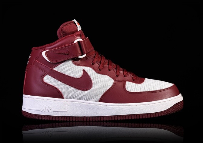 Nike Air Force 1 Mid Wheat Grey Red Carpet  ab1e63349