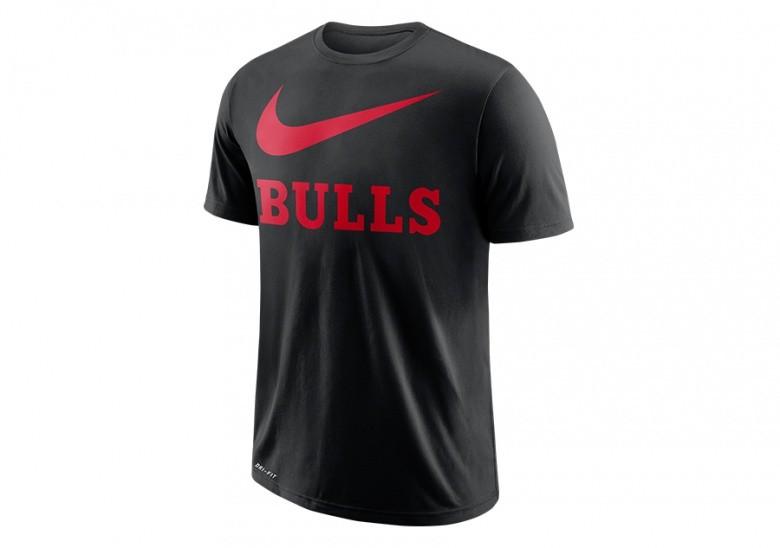 NIKE NBA CHICAGO BULLS DRY TEE SWOOSH BLACK