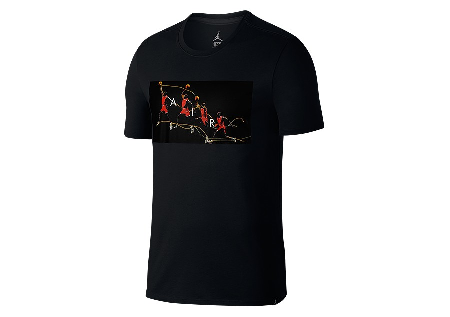 dd2a7a4d1bc512 NIKE AIR JORDAN DRY FLIGHT PHOTO BASKETBALL TEE BLACK price €29.00 ...