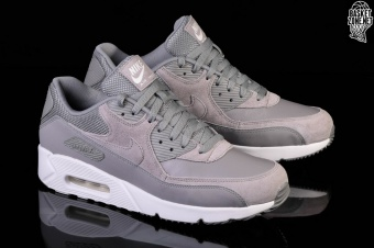 Nike Air Max 90 Ultra 2.0 Ltr Leather Dust White Grey Men