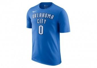 NIKE NBA OKLAHOMA CITY THUNDER RUSSELL WESTBROOK TEE SIGNAL BLUE