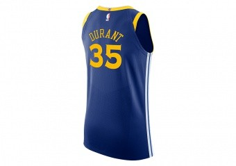 666d6a707987 NIKE NBA GOLDEN STATE WARRIORS KEVIN DURANT AUTHENTIC JERSEY ROAD RUSH BLUE.  863022-496