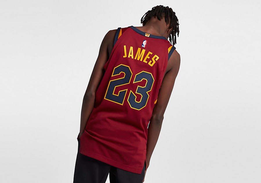 new concept 40bea b61ec NIKE NBA CLEVELAND CAVALIERS LEBRON JAMES AUTHENTIC JERSEY ...