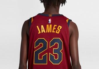 0623b963b8ec NIKE NBA CLEVELAND CAVALIERS LEBRON JAMES AUTHENTIC JERSEY ROAD TEAM ...