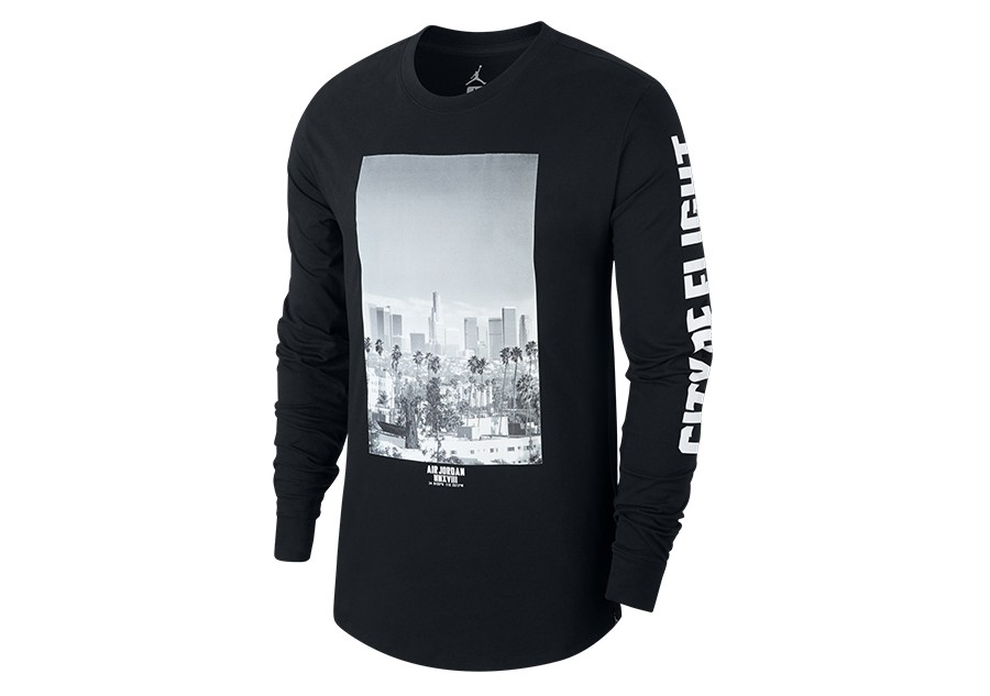 b28445558 NIKE AIR JORDAN SPORTWEAR 'CITY OF FLIGHT' PHOTO LONG-SLEEVE TEE BLACK
