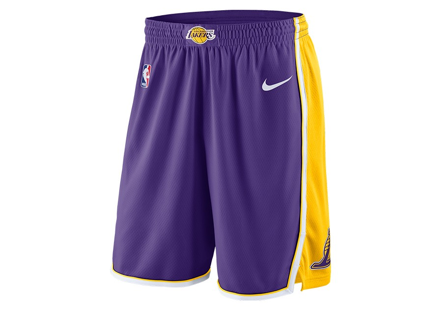 1ce51fcd4 NIKE NBA LOS ANGELES LAKERS STATEMENT EDITION SWINGMAN SHORTS FIELD PURPLE