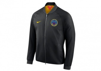 NIKE NBA GOLDEN STATE WARRIORS CITY EDITION MODERN JACKET BLACK
