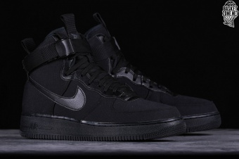 new product 0a7f7 c9b6a NIKE AIR FORCE 1 HIGH  07 CANVAS BLACK