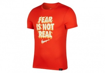 NIKE KYRIE IRVING FEAR IS NOT REAL DRY TEE HABANERO RED