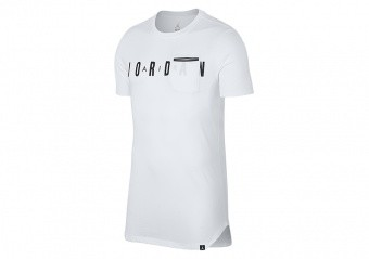 NIKE AIR JORDAN SPORTSWEAR ALT-HEM POCKET TEE WHITE