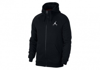 NIKE AIR JORDAN SPORTSWEAR JUMPMAN FLEECE HOODIE BLACK
