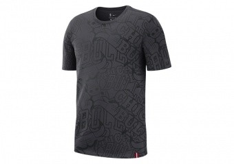 NIKE NBA CHICAGO BULLS TEE ANTHRACITE