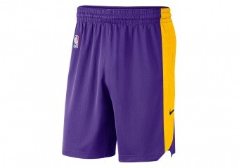 NIKE NBA LOS ANGELES LAKERS PRACTICE SHORTS FIELD PURPLE