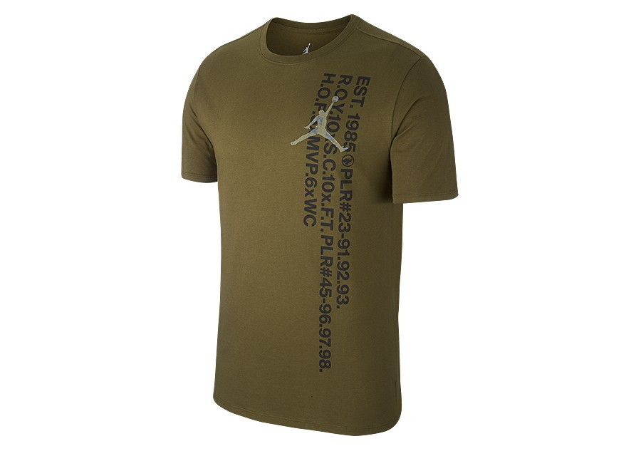 dbfe4e6c897f NIKE AIR JORDAN JSW GREATEST S S TEE OLIVE CANVAS price €32.50 ...