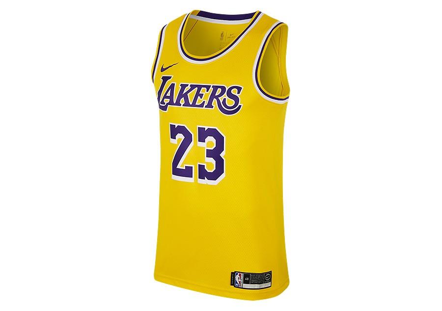 9b631c7f68f NIKE NBA LOS ANGELES LAKERS LEBRON JAMES SWINGMAN ROAD JERSEY AMARILLO