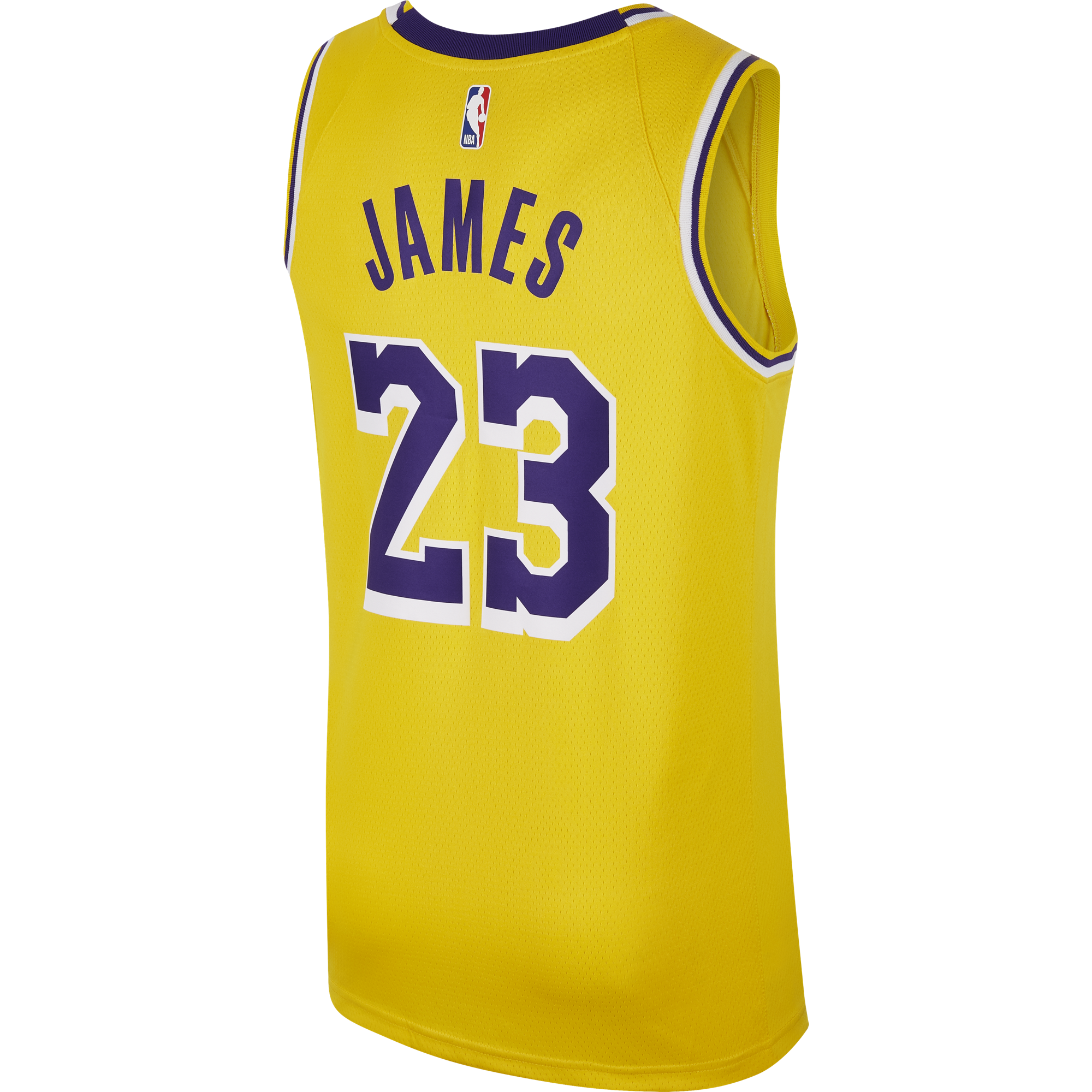 165801e444d NIKE NBA LOS ANGELES LAKERS LEBRON JAMES SWINGMAN ROAD JERSEY. Previous Next