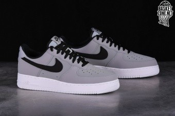 online store c1dfb ed5de NIKE AIR FORCE 1  07 LEATHER GREY BLACK