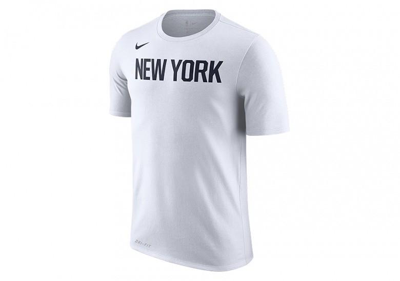 6caa7024 NIKE NBA NEW YORK KNICKS DRY TEE WHITE per €32,50   Basketzone.net