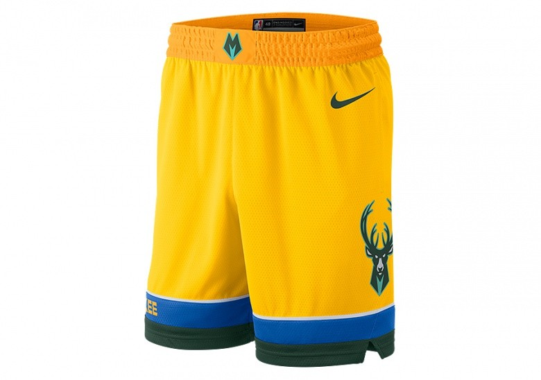 NIKE NBA MILWAUKEE BUCKS SWINGMAN SHORTS AMARILLO