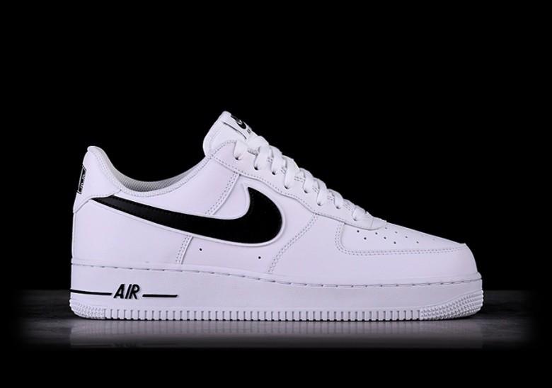 best sneakers 42641 b85d8 NIKE AIR FORCE 1  07 WHITE BLACK SWOOSH