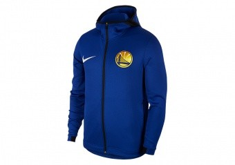 NIKE NBA GOLDEN STATE WARRIORS THERMAFLEX SHOWTIME HOODIE RUSH BLUE