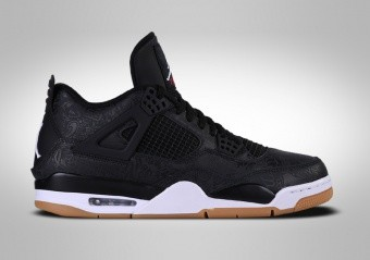 los angeles 1bc0a d5b6a BASKETBALL SHOES. NIKE AIR JORDAN 4 RETRO BLACK LASER