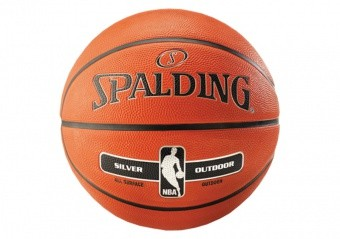 SPALDING NBA SILVER OUTDOOR (SIZE 7) ORANGE