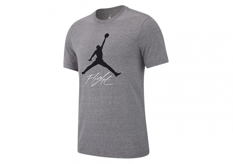 NIKE AIR JORDAN JUMPMAN FLIGHT TEE CARBON HEATHER