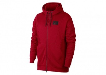 NIKE AIR JORDAN FLIGHT LOOP HOODIE GYM RED