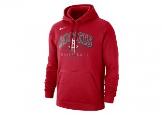 NIKE NBA HOUSTON ROCKETS CREST HOODY UNIVERSITY RED