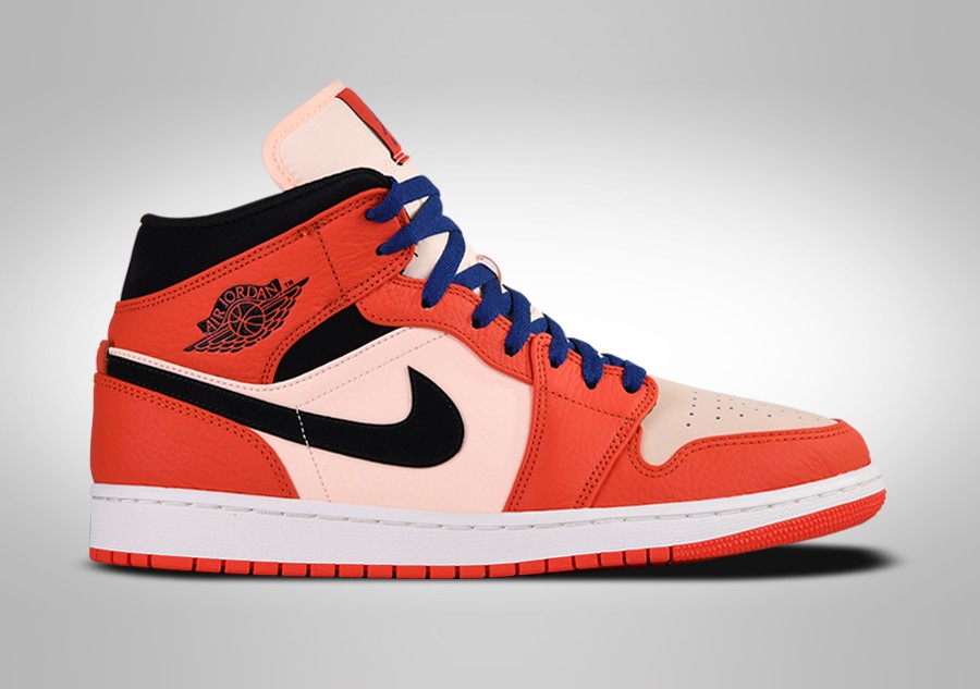 nike air jordan mid 1 orange