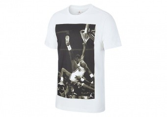 NIKE AIR JORDAN JBSK HANGTIME PHOTO TEE WHITE