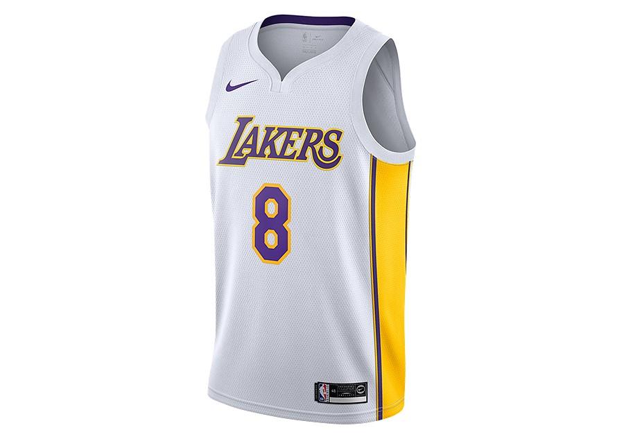 57b777851 NIKE NBA LOS ANGELES LAKERS KOBE BRYANT SWINGMAN HOME JERSEY WHITE per  €92