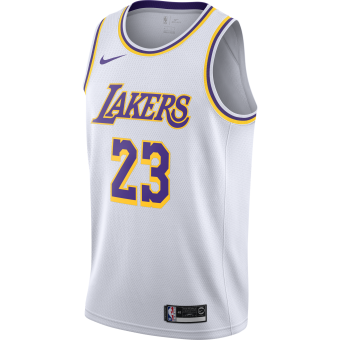 NIKE NBA LOS ANGELES LAKERS LEBRON JAMES SWINGMAN HOME JERSEY