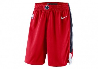 NIKE NBA WASHINGTON WIZARDS SWINGMAN ROAD SHORTS UNIVERSITY RED