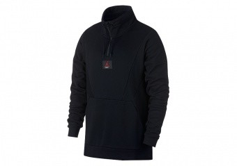 NIKE AIR JORDAN FLIGHT LOOP 1/4 ZIP BLACK