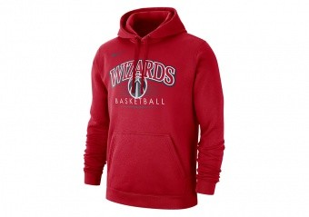 NIKE NBA WASHINGTON WIZARDS CREST HOODY UNIVERSITY RED