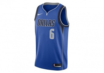 NIKE NBA DALLAS MAVERICKS KRISTAPS PORZINGIS SWINGMAN ROAD JERSEY GAME ROYAL
