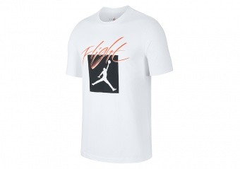 NIKE AIR JORDAN JUMPMAN FLIGHT CREW TEE WHITE