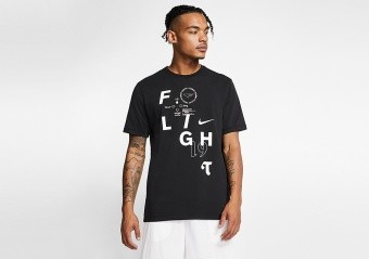 NIKE FLIGHT BASKETBALL TEE BLACK
