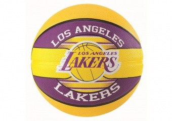SPALDING NBA TEAM L.A LAKERS SIZE 7 YELLOW