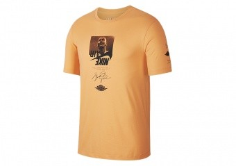 NIKE AIR JORDAN THE MAN CREW TEE ORANGE TRANCE