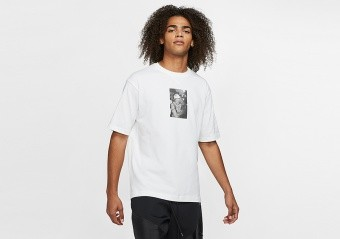 NIKE AIR JORDAN RIVALS CREW TEE WHITE