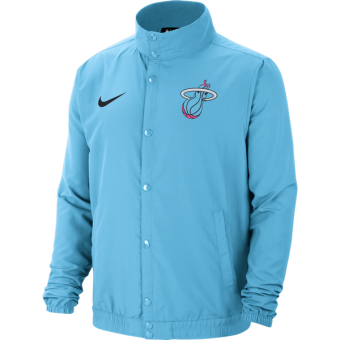 NIKE NBA MIAMI HEAT CITY EDITION LIGHTWEIGHT JACKET BLUE GALE