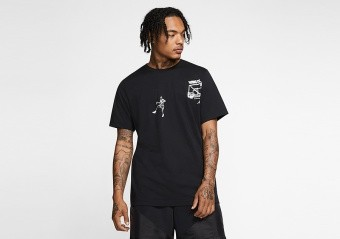 NIKE AIR JORDAN MJ PHOTO WING IT TEE BLACK