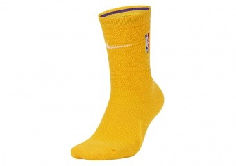 NIKE NBA LOS ANGELES LAKERS CITY EDITION SOCKS AMARILLO