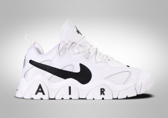 NIKE AIR BARRAGE LOW RETRO WHITE BLACK SWOOSH
